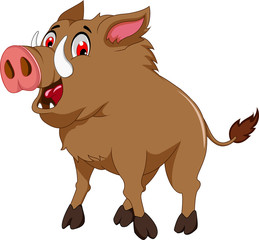 wild boar cartoon for you design