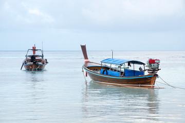 Long Tail Boats at Phi Phi Leh island, Thailand