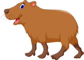 cute capybara cartoon