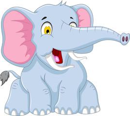 cute elephant cartoon posing