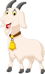 cute goat cartoon posing