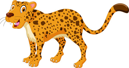 cute cheetah cartoon posing