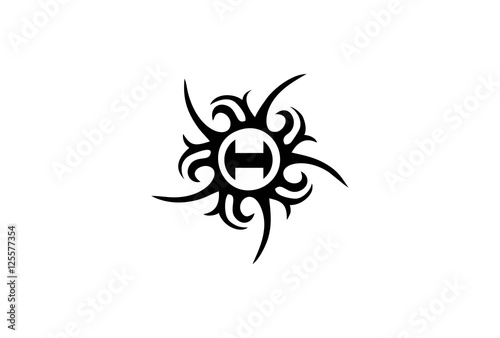 100 tribal tattoo letters royalty free old english abc letters image collections letter. Black Bedroom Furniture Sets. Home Design Ideas
