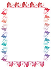 Beautiful raster silhouette frame with gradient filled.