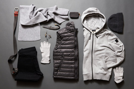 Modern men's clothing and accessories