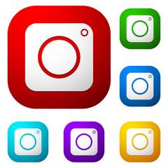 Flat photo camera symbol - Photo, photography icon
