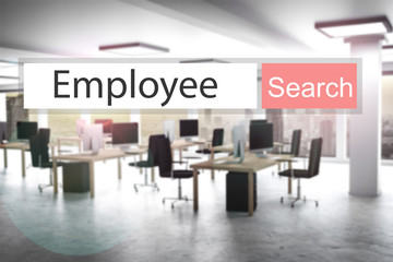 websearch new red search button employee 3D Illustration