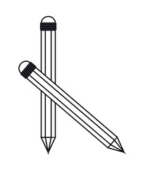 Pencil icon. Write tool office object and instrument theme. Isolated design. Vector illustration