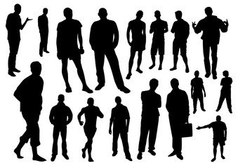 Men silhouettes