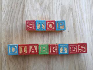 stop diabetes word