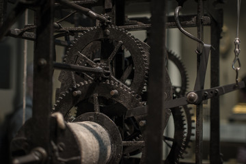 Cogs of a large clock