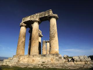 Ancient Corinth site remains, Peloponnese, Greece