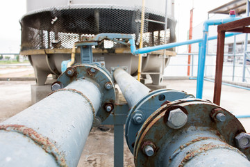 water pipe with cooling tower
