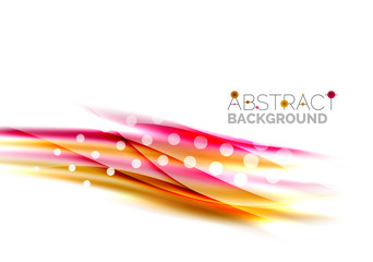 Blurred color waves, lines. Vector abstract background template