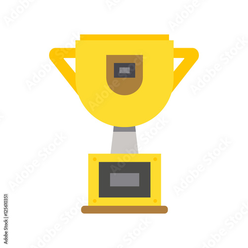 """Trophy cup flat icon vector"" Stock image and royalty-free ..."