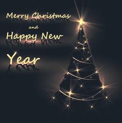 Abstract Happy New Year Christmas tree
