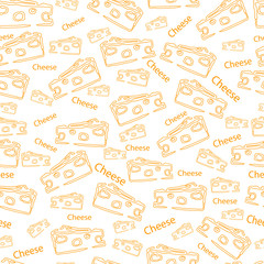 Vector pattern with the image of hard cheese
