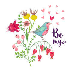 Be my card with bird.