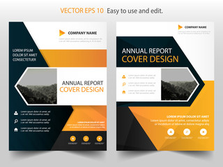 Yellow Black Vector business proposal Leaflet Brochure Flyer template design, book cover layout design, abstract business presentation template, a4 size design