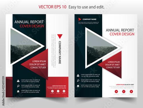 Red Black Vector Business Proposal Leaflet Brochure Flyer Template