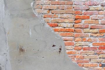 brick wall texture. Antique brick wall texture cracked