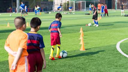Children Training in Soccer academy