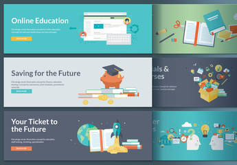 Online Education Web Banners