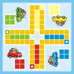 ludo, car and animals
