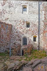 Inner yard of Kastelholm castle on Aland islands in Finland