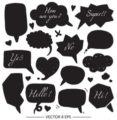 Vector set of balloons for inscriptions
