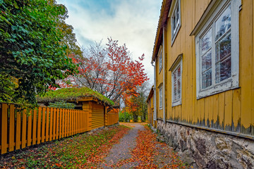 Fall colors in Loviisa old town