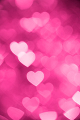 pink heart bokeh background photo, abstract holiday backdrop