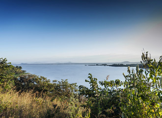 view of lake tana near bahir dar ethiopia