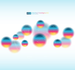 Abstract colorful background. Vector bokeh