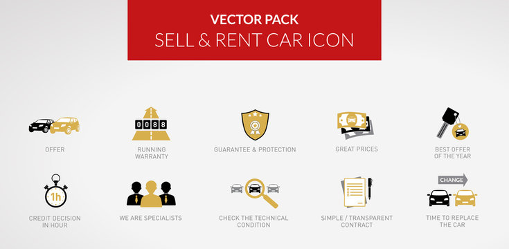 Vector icon - Rent Sell & Buy Car - vol.2