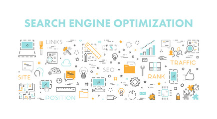 Line concept for search engine optimization