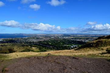 Aerial View of Edinburgh from Arthur's Seat