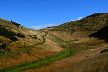 Beautiful Hiking Trail in Edinburgh Scotland