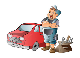 Car Mechanic, illustration