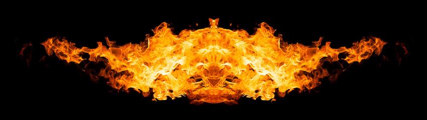 Burning bird silhouette