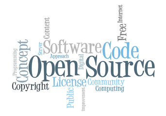 Open Source Software word cloud