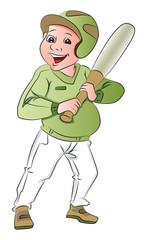 Vector of baseball batsman.