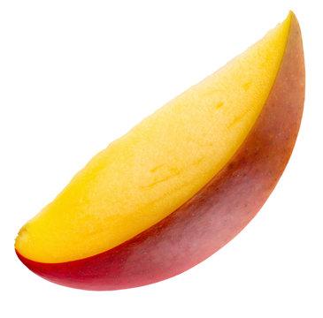 mango slice isolated on the white background