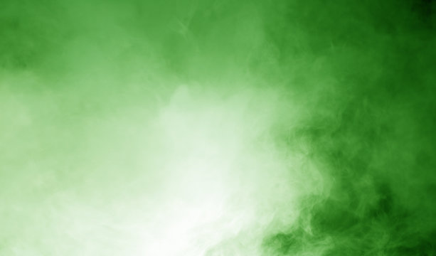 steam on the green background
