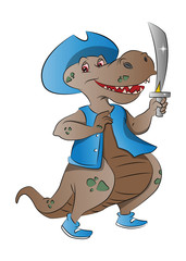 Dinosaur Pirate, illustration