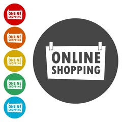Online shopping Sign - illustration