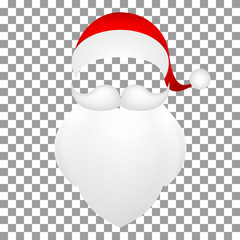 Template Santa Claus, his mustache with a beard
