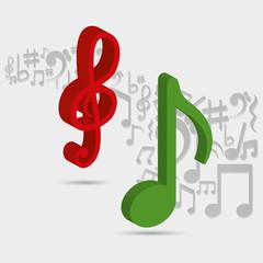 Music sound art icon vector illustration graphic design