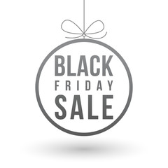 Black Friday sale simple design template on a light background