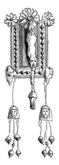 Ancient Phoenician earrings believed to be Egyptian in artistic
